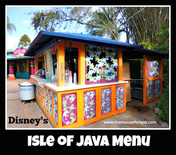 Isle of Java Menu at Animal Kingdom Park #DisneyDining #AnimalKingdom