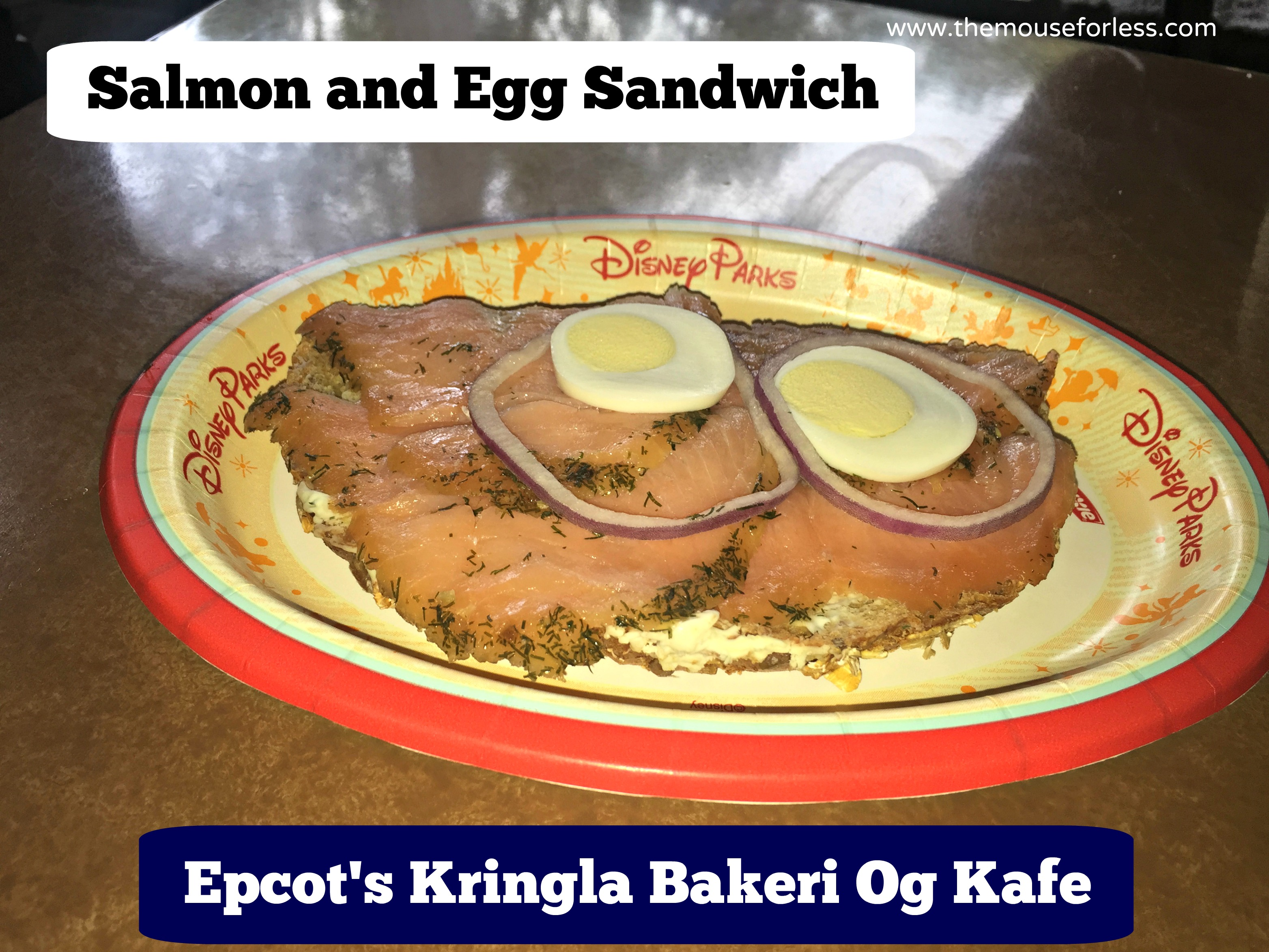 Salmon and Egg Sandwich at Kringla Bakeri Og Kafe Menu - Table Service Restaurant at Epcot #DisneyDining #WaltDisneyWorld