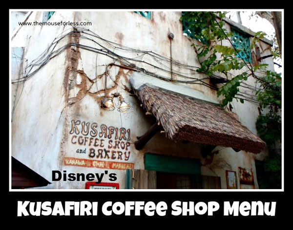 Kusafiri Coffee Shop & Bakery Snacks Menu at Disney's Animal Kingdom #WaltDisneyWorld