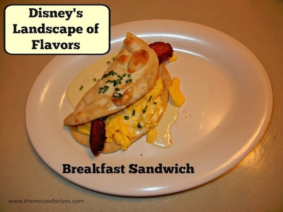 Breakfast Sandwich - Landscape of Flavors Food Court Menu at Disney's Art of Animation Resort #DisneyDining #WDW