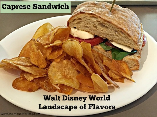 Caprese Sandwich - Landscape of Flavors Food Court Menu at Disney's Art of Animation Resort #DisneyDining #WDW