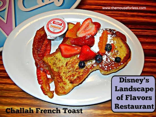 French Toast - Landscape of Flavors Food Court Menu at Disney's Art of Animation Resort #DisneyDining #WDW