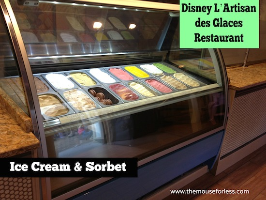 L'Artisan des Glaces Menu at Epcot World Showcase #DisneyDinning #Epcot