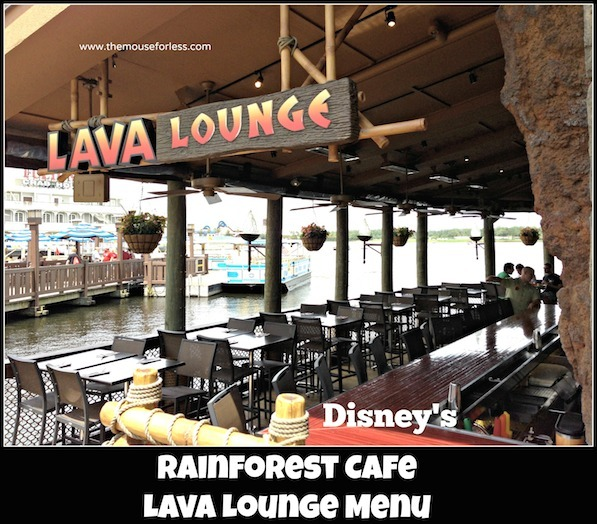 Rainforest Lava Lounge Menu at Disney Springs #DisneyDining #DisneySprings