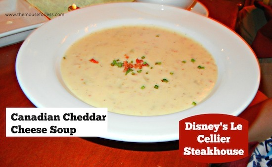 Canadian Cheddar Cheese Soup - Le Cellier Menu at Epcot #DisneyDining #WDW
