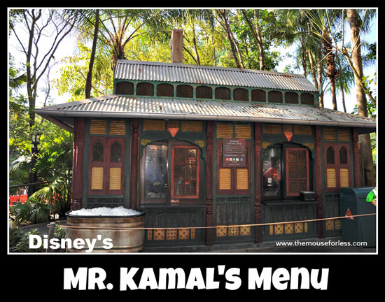 Mr. Kamal's Snack Menu at Disney's Animal Kingdom #WaltDisneyWorld