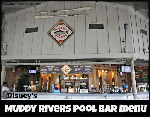 Muddy Rivers Pool Bar Menu at Disney's Port Orleans Resort - Riverside #DisneyDining #PortOrleansRiverside
