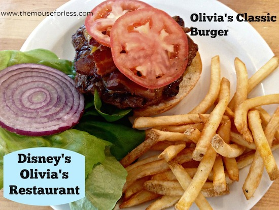 Olivia's Classic Burger at Olivia's Cafe at Old Key West Resort #DisneyDining #OldKeyWest