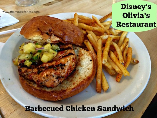 Barbecued Chicken Sandwich at Olivia's Cafe at Old Key West Resort #DisneyDining #OldKeyWest