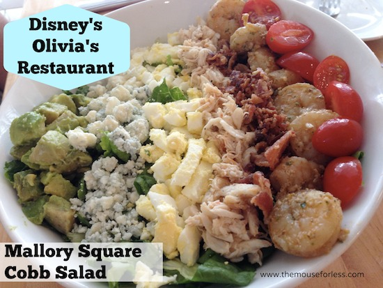 Mallory Square Cobb Salad at Olivia's Cafe at Old Key West Resort #DisneyDining #OldKeyWest