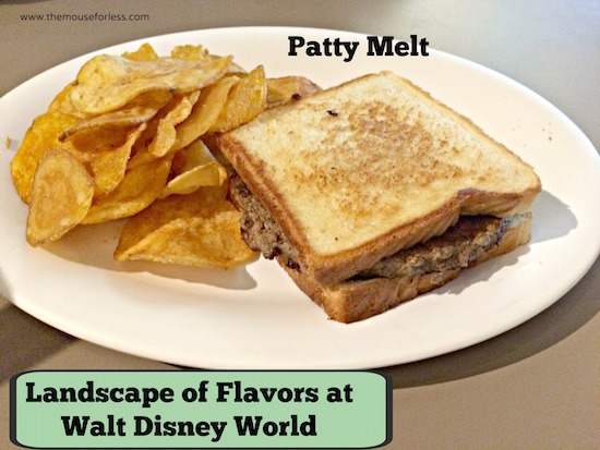 Patty Melt Sandwich - Landscape of Flavors Food Court Menu at Disney's Art of Animation Resort #DisneyDining #WDW