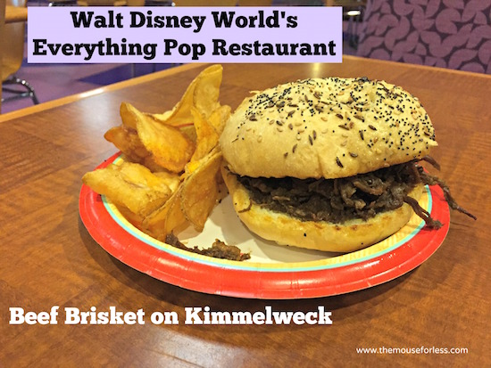 Beef Brisket on Kimmelweck at Everything Pop - Pop Century Food Court Menu #DisneyWorld #PopCentury