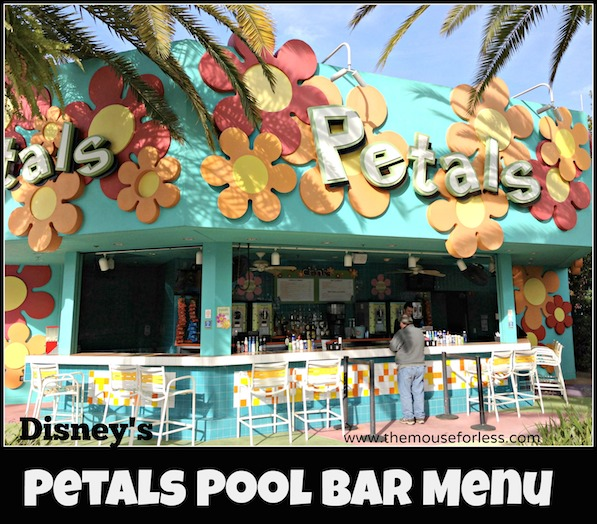 Petals Pool Bar at Pop Century Resort #DisneyDining #PopCentury