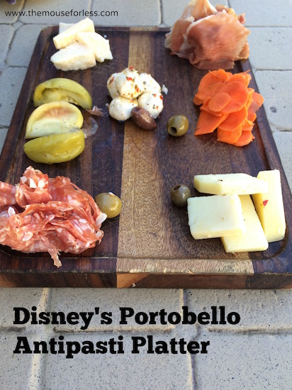 Antipasti Platter at Portobello restaurant at Disney Springs The Landing #DisneyDining #DisneySprings