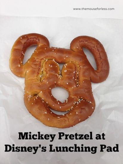 Mickey Pretzel at The Lunching Pad in the Magic Kingdom #DisneyDining #MagicKingdom