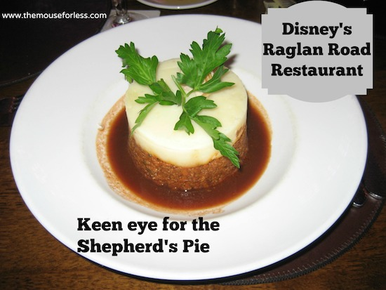 Shepherd's Pie at Raglan Road at Disney Springs The Landing #DisneyDining #DisneySprings