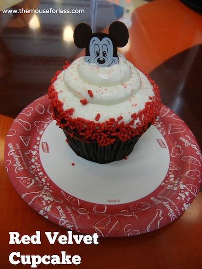 Red Velvet Cupcake from Disney's Contempo Cafe at Disney's Contemporary Resort #DisneyDining #WaltDisneyWorld