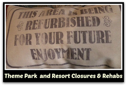 Walt Disney World Theme Park and Resort Closures and Rehabs