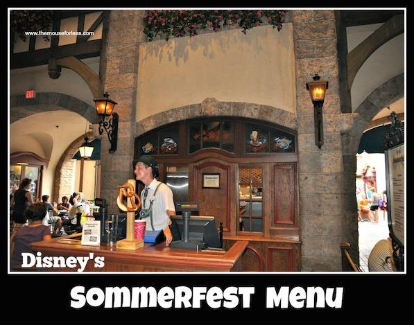 Sommerfest Menu at Epcot World Showcase #DisneyDining #Sommerfest