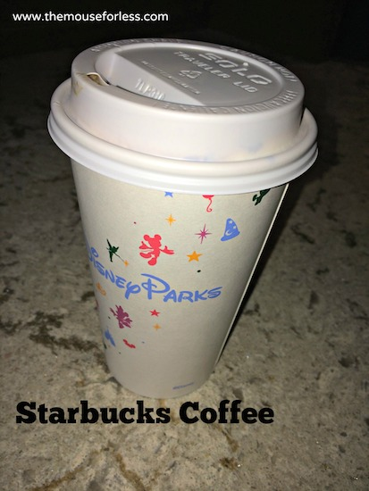 Starbucks Coffee from Main Street Bakery Menu at Magic Kingdom #DisneyDining #MagicKingdom