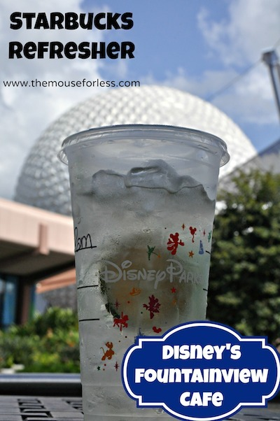 Fountain View Counter Service Menu at Epcot #DisneyDining #Epcot