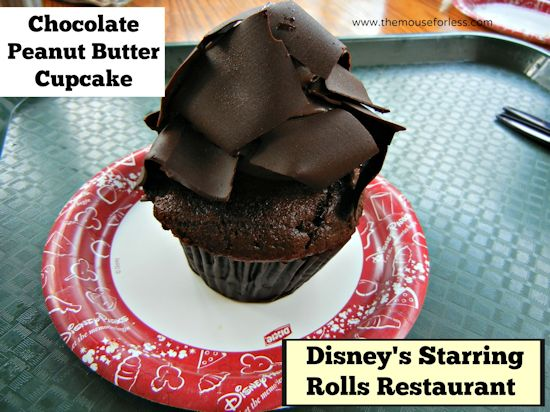Starring Roll Chocolate Peanut Butter Cupcake at Disney's Hollywood Studios