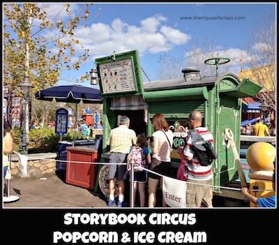 Storybook Circus Popcorn & Ice Cream Cart at Magic Kingdom #MagicKingdom #DisneyDining