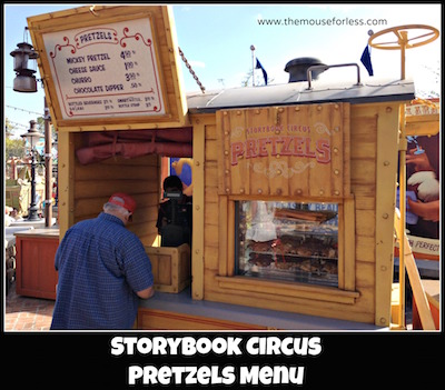 Storybook Circus Pretzel Cart at Magic Kingdom #MagicKingdom #DisneyDining