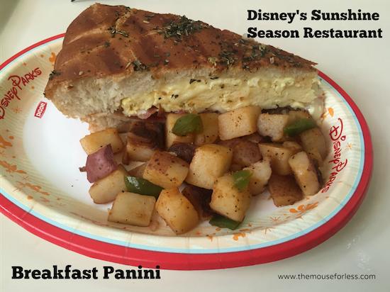 Breakfast Panini at Sunshine Season at Epcot Future World at Walt Disney World #DisneyDining #Epcot