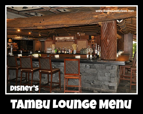 Tambu Lounge Menu