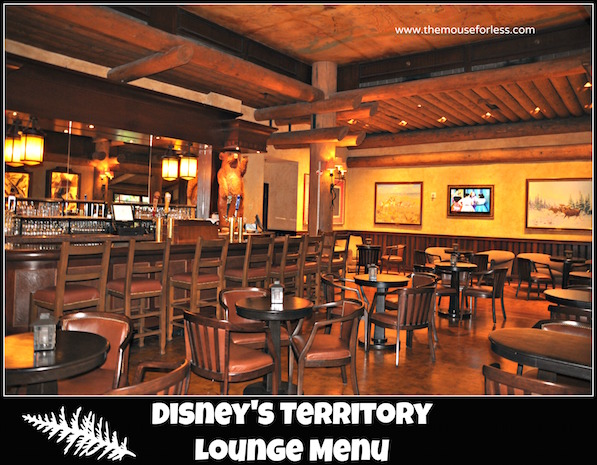 Territory Lounge Menu at Disney's Wilderness Lodge #DisneyDining #WildernessLodge
