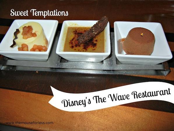 Dessert at The Wave Menu at Disney's Contemporary Resort #DisneyDining #ContemporaryResort