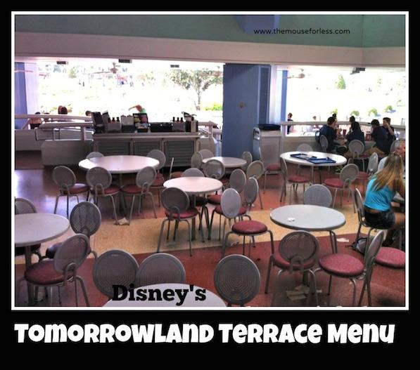 Tomorrowland Terrace Restaurant Menu at the Magic Kingdom #DisneyDining #MagicKingdom