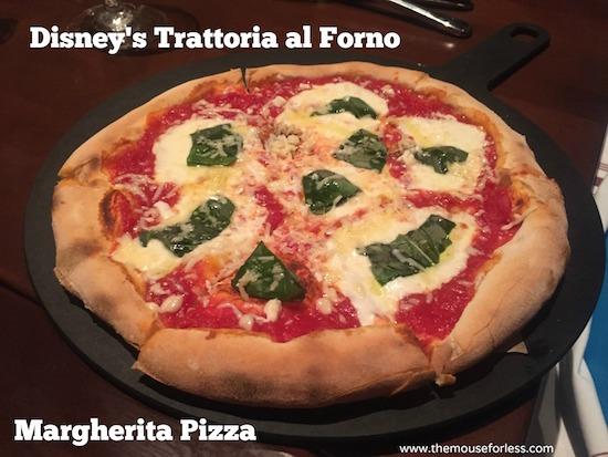 Margherita Pizza at Trattoria at Disney's BoardWalk Resort & Spa #DisneyDining #BoardwalkResort