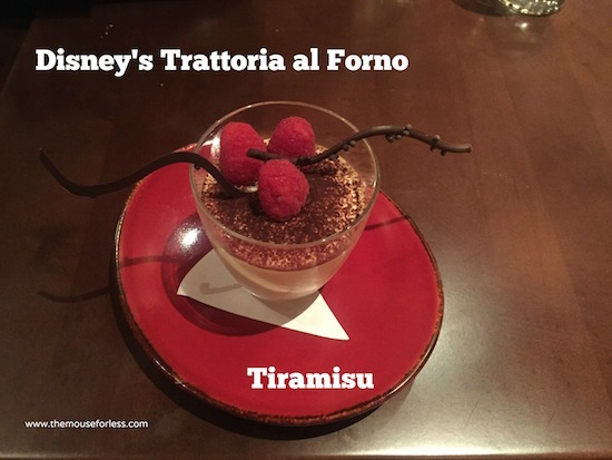 Tiramisu at Trattoria at Disney's BoardWalk Resort & Spa #DisneyDining #BoardwalkResort