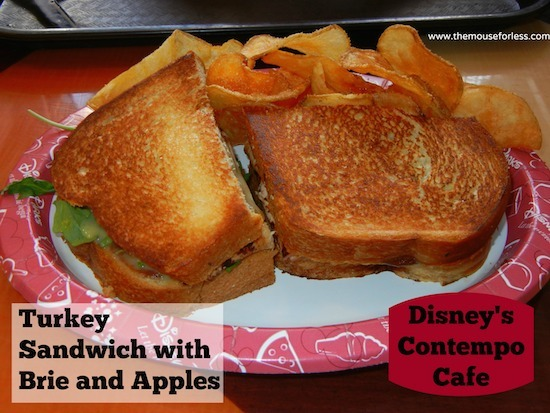 Turkey Sandwich with Brie and Apples from Disney's Contempo Cafe Restaurant at Disney's Contemporary Resort #DisneyDining #WaltDisneyWorld