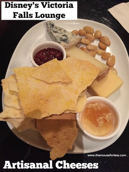 Artisanal Cheeses at Victoria Falls Lounge Menu at Disney's Animal Kingdom Lodge #DisneyDining #AnimalKingdomLodge