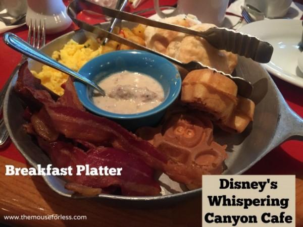 Disney Whispering Canyon Platter