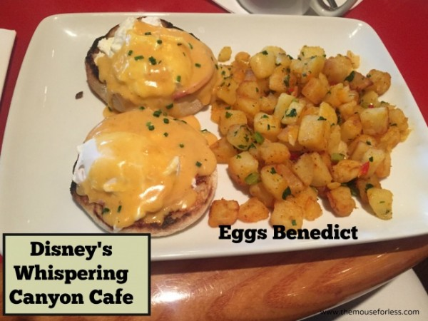 Disney Whispering canyon eggs benedict