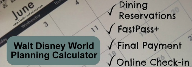 Walt Disney World Date Calculator