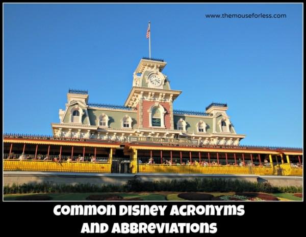 Disney Acronyms & abbreviations