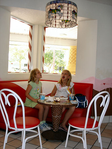 Give Kids The World Village Photo Ice Cream Palace Tables
