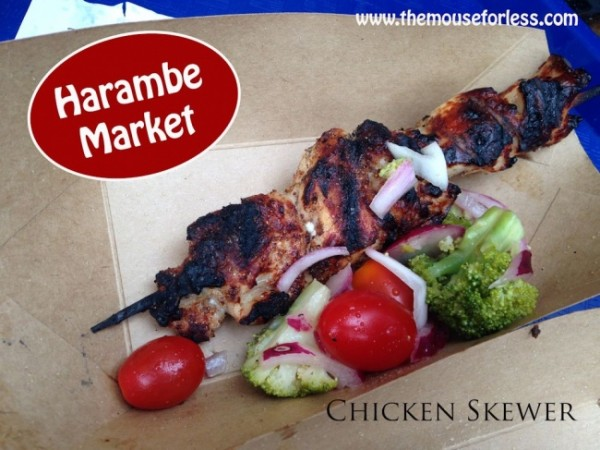 Harambe Market Chicken Skewer at Animal Kingdom