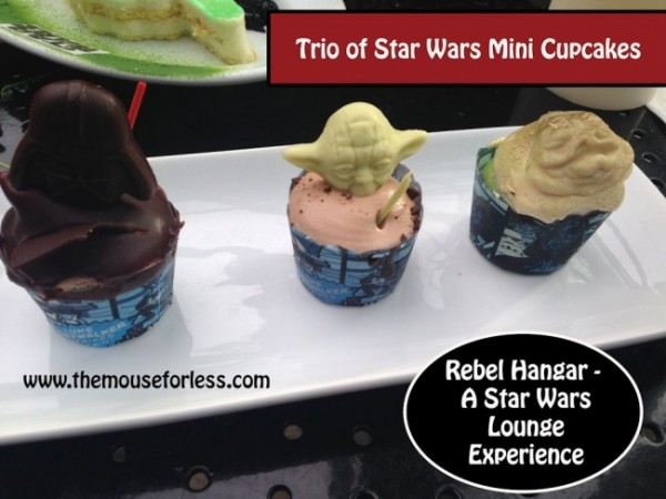 Trio of Mini Star Wars Cupcakes