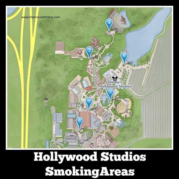Disney Hollywood Studios Designated Smoking Areas