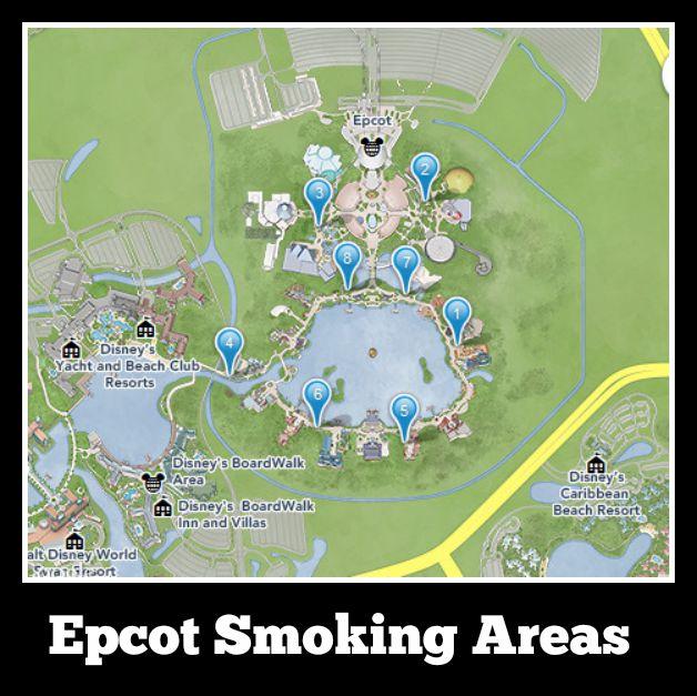 Epcot Walt Disney World Designated Smoking Areas