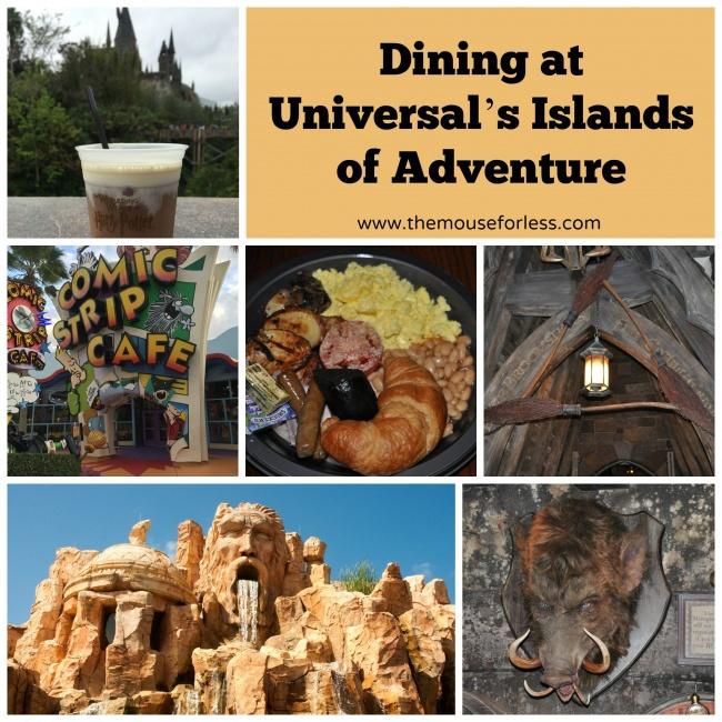 Islands Of Adventure Dining Guide Universal Orlando Resort