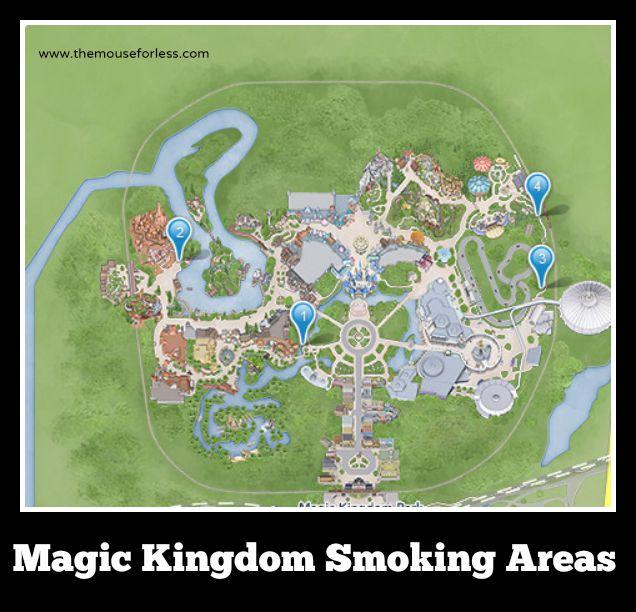 Walt Disney World Designated Smoking Areas In The Theme Parks