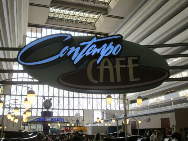Contempo Cafe Sign - Top Ten Quick Service Restaurants at Walt Disney World