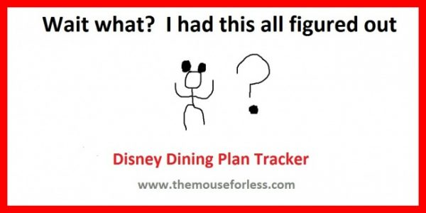 disney dining plan tracker for your planning purposes